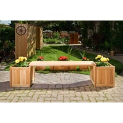 All Things Cedar 3 Piece Planter w/ Bench