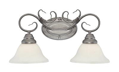 Millennium Lighting 2-Light Vanity Light; Rubbed Silver