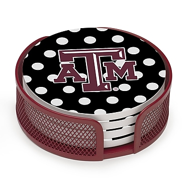 Thirstystone 5 Piece Texas A & M Dots Collegiate Coaster Gift Set
