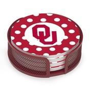 Thirstystone 5 Piece University of Oklahoma Dots Collegiate Coaster Gift Set
