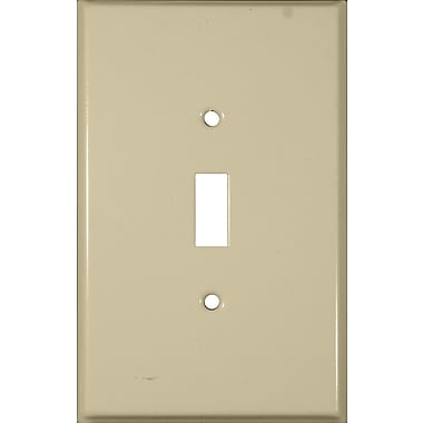Morris Products Oversize Toggle Switch 1 Gang Stainless Steel Metal Wall Plates in Ivory