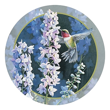 Thirstystone Hummer in Delphiniums Occasions Coaster (Set of 4)