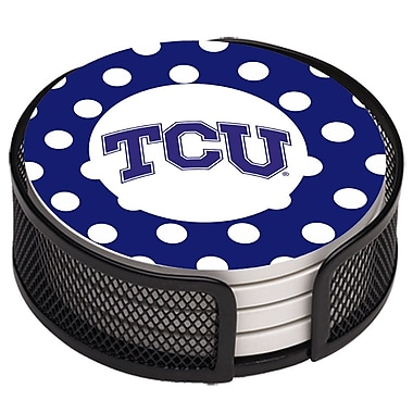Thirstystone 5 Piece Texas Christian University Dots Collegiate Coaster Gift Set