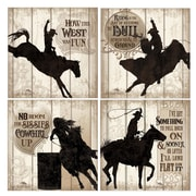 Thirstystone 4 Piece Cowboy Silhouettes Coaster Set