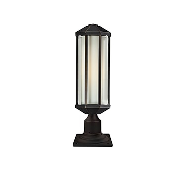 Z-Lite Cylex Outdoor 1-Light Pier Mount Light; Oil Rubbed Bronze