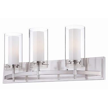 Philips Hula 3-Light Vanity Light; Satin Nickel