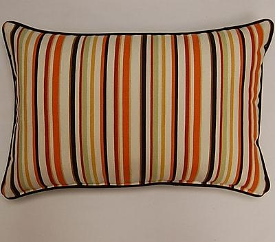 Dakotah Pillow Dockside Corded Lumbar Pillow (Set of 2); Cinnamon