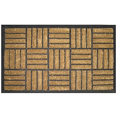 Entryways Bootscraper Criss Cross Doormat; Rectangle 1'6'' x 2'6''