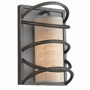 Woodbridge Loop 1-Light Wall Sconce; Beige Shade