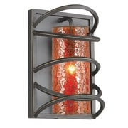 Woodbridge Loop 1-Light Wall Sconce; Amber Mosaic Glass