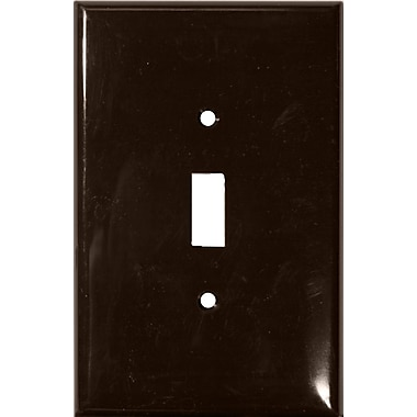 Morris Products 1 Gang Oversize Lexan Wall Plates for Toggle Switch in Brown