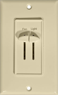 Morris Products Slide Fan and Light Speed Controls in Ivory