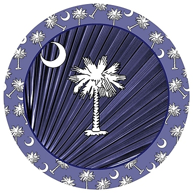 Thirstystone Navy Blue Palmetto Occasions Coaster (Set of 4)