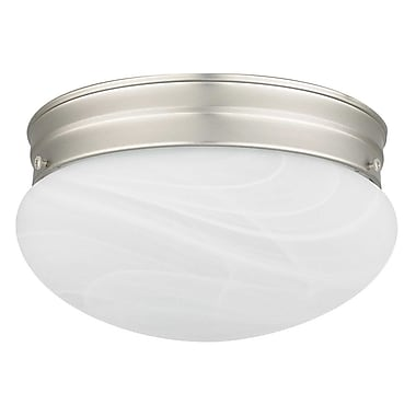 Sunset Lighting 2-Light Flush Mount; Satin Nickel