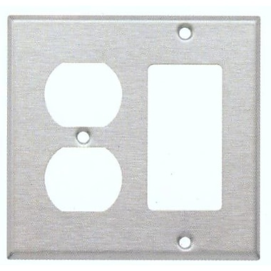 Morris Products Two Gang / GFCI and Duplex Metal Wall Plates in Stainless