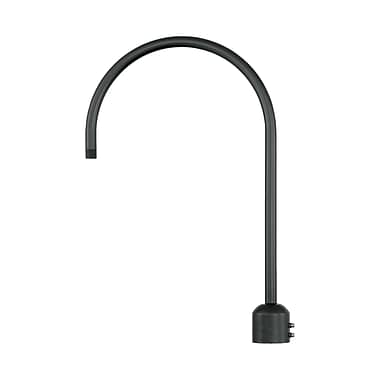 Millennium Lighting R Series Single Post Adapter; Satin Black