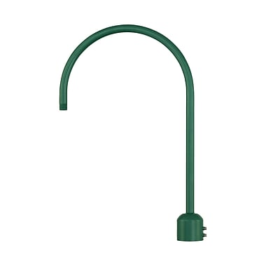 Millennium Lighting R Series Single Post Adapter; Satin Green