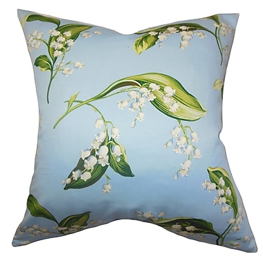 The Pillow Collection Bekele Floral Cotton Throw Pillow; 20'' x 20''