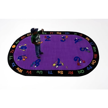 Kids World Counting Hands Kids Rug; Oval 6'6'' x 8'4''