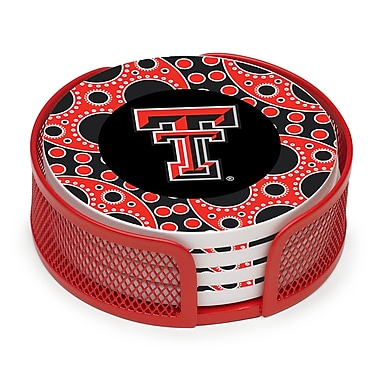 Thirstystone 5 Piece Texas Tech University Circles Collegiate Coaster Gift Set