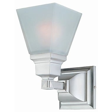 DVI Aurora 1-Light Bath Vanity Light; Satin Nickel