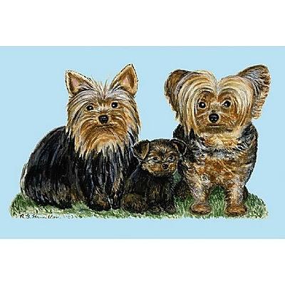 Betsy Drake Interiors Pets Yorkies Doormat; Rectangle 18'' x 26''