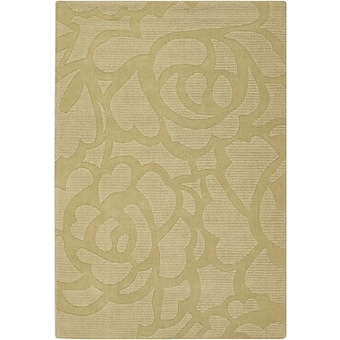 Chandra Jaipur Floral Green Area Rug; 7' x 10'