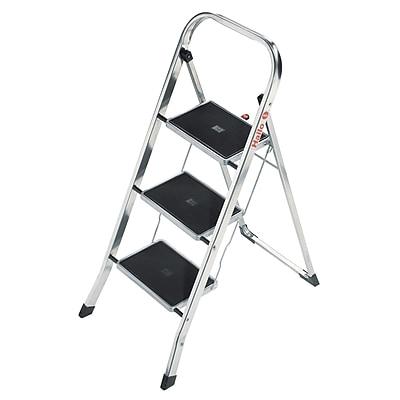 Hailo USA Inc. 3-Step Aluminum Step Stool w/ 330 lb. Load Capacity