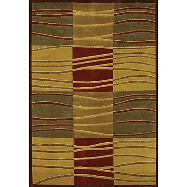 Chandra Aadi Beige/Green Area Rug; 7'9'' x 10'6''