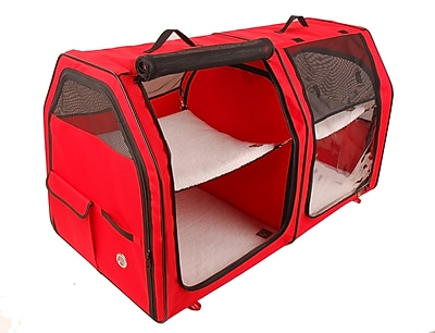 OneForPets Show House Cat Carrier; Red