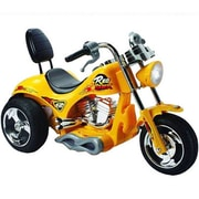 Big Toys Red Hawk 12V Battery Powered Motorcycle; Yellow