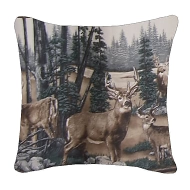 Blue Ridge Trading Whitetail Dreams Cotton Throw Pillow