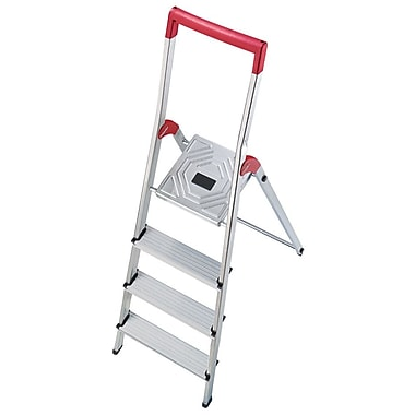 Hailo USA Inc. 5.22 ft Aluminum Step Ladder w/ 330 lb. Load Capacity