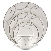 Nikko Ceramics Elegant Swirl Bone China 5 Piece Place Setting, Service for 1