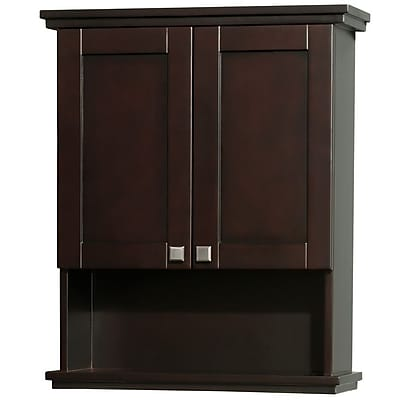 Wyndham Collection Acclaim 25'' W x 30'' H Wall Mounted Cabinet; Espresso