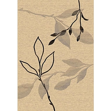 Dynamic Rugs Eclipse Cream Branches Area Rug; 6'7'' x 9'6''