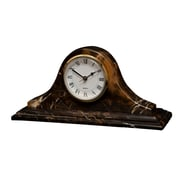Designs By Marble Crafters Saturn Clock; Black and Gold Marble