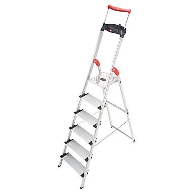 Hailo USA Inc. 6.23 ft Aluminum Step Ladder w/ 330 lb. Load Capacity