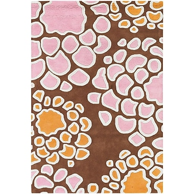 Chandra Inhabit Designer Brown Area Rug; 5' x 7'6''
