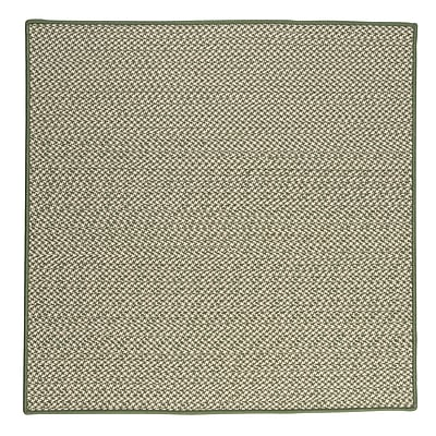 Colonial Mills Outdoor Houndstooth Tweed Leaf Green Rug; Square 10'