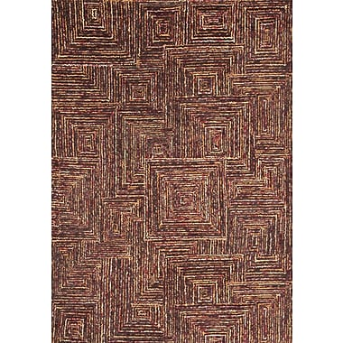 Abacasa Lifestyle Tipton Hand Tufted Wool Dark Brown Area Rug; 5' x 8'