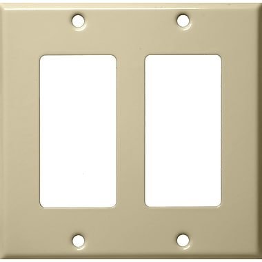 Morris Products Two Gang Decorator and GFCI Metal Wall Plates in Ivory
