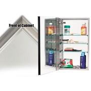 Alno 15'' x 25'' Recessed Medicine Cabinet; Satin Nickel