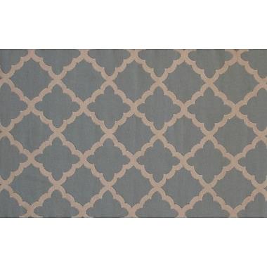 MOTI Rugs Flat Weave Sky Gray/Brown Area Rug; 8' x 11'