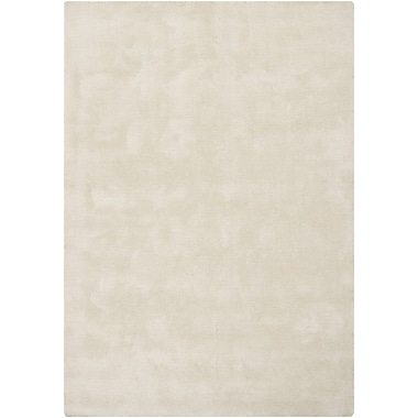 Chandra Clarissa Ivory Solid Area Rug; 5'3'' x 7'7''