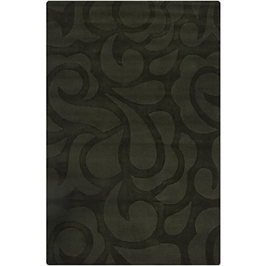 Chandra Ast Black Floral Area Rug; 5' x 7'6''