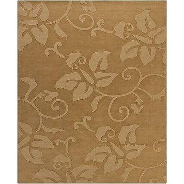 Chandra Ty Tan Floral Area Rug; 6' x 9'