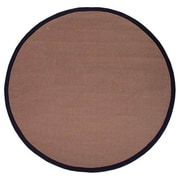 Acura Rugs Sisal Natural/Black Rug; Round 6'