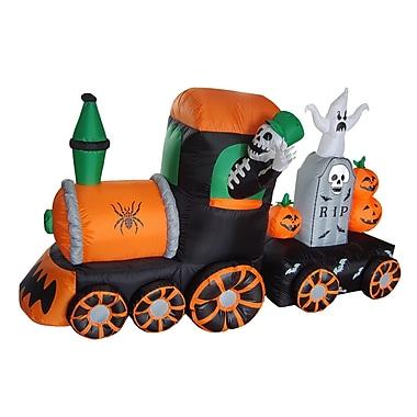 BZB Goods Halloween Inflatable Skeleton on Train Decoration