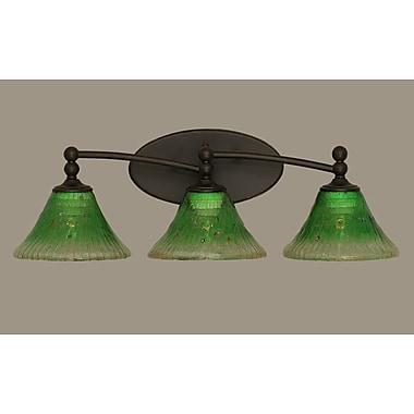 Toltec Lighting Capri 3-Light Vanity Light; Kiwi Green